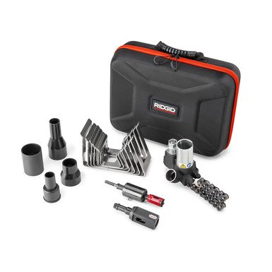 RIDGID® Press-In Branch Connector Tool Kit for 3/4-Inch Branches Eliminates the Need to Weld