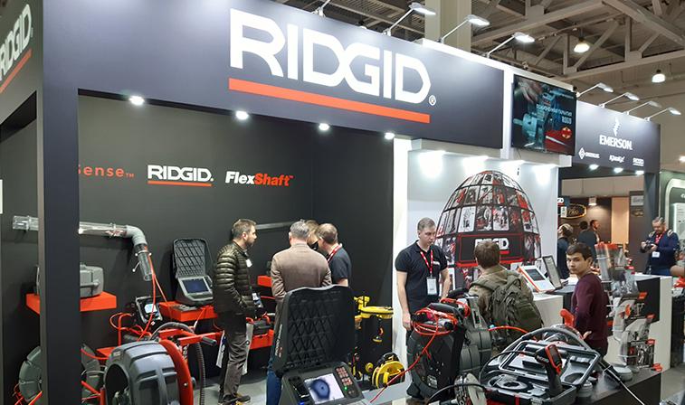 RIDGID на Акватерм-2020: сверхбыстрая прочистка труб и HDR-видеотехнологии