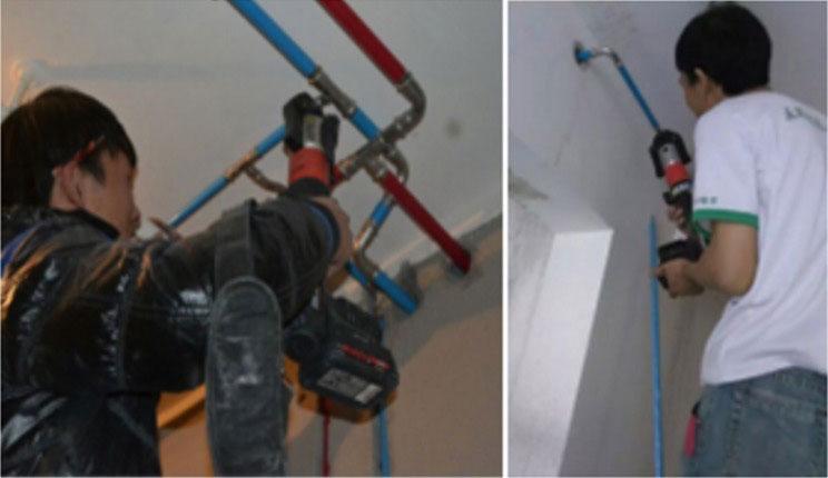 家装不锈钢管高效压接 RIDGID RP310电动液压压接工具