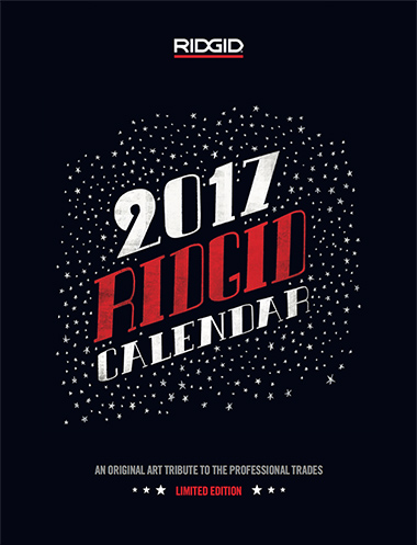 RIDGID® Celebrates the Trades with Commemorative Limited Edition Calendar