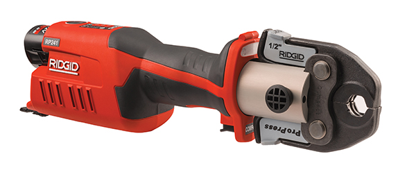 Smaller, Lighter, Connected Through RIDGID Link: RIDGID® RP 241 Pressing Tool