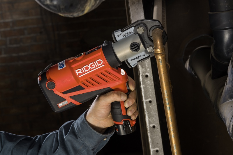 RIDGID® Adds to Line of Ergonomic, Compact Press Tools – Introducing the RP 240