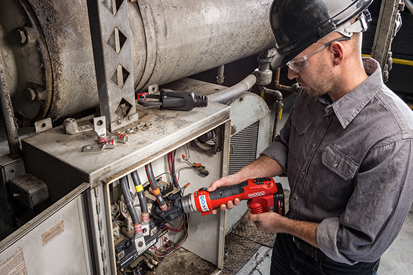 Cable Termination Gets Easier with New RIDGID® RE 6 Electrical Tool Crimp Head