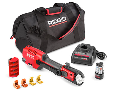 New From RIDGID®: Industry's First One-Handed, Battery Operated PEX Tool