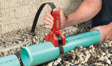 Get a Grip on Handling Plastic Pipe with the New RIDGID® STRAPLOCK Pipe Handle