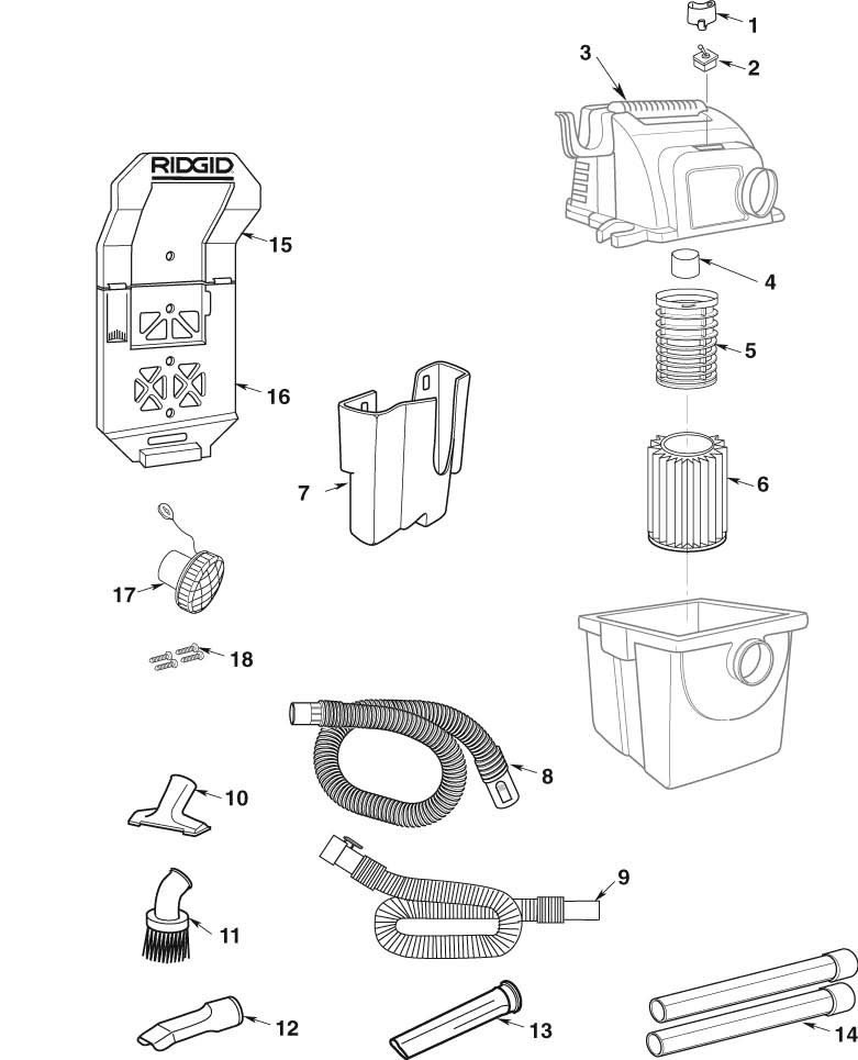 parts 5 gallon stor n go wet dry vac ridgid store RIDGID Shop-Vac Replacement Parts zoom in wd55000 vac assembly