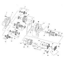 Motor Transmission Type 2 – Motors built after Serial Number EAH XXXX 1109