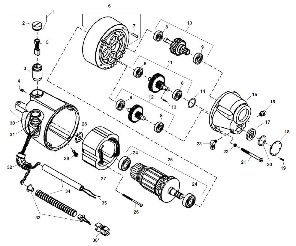 Parts | Model 300 Power Drive Complete | RIDGID Store on