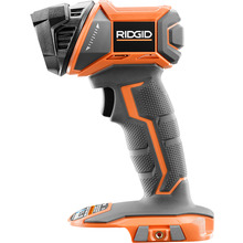 RIDGID introduces the 18-Volt Work Light (Tool-Only). With an ergonomic Hex Grip handle, the LED light and rotating head makes it easier than ever to light your work space. This light puts out 340 Lumens using a lifetime LED light, so the light will never have to be replaced for the lifetime of the tool. As always, this tool is backed by the RIDGID Lifetime Service Agreement. This work light includes an operator's manual. Battery and charger sold separately.