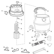 WD14500, WD1451 Vac Assembly