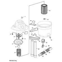 WD16350, WD1635AC, WD1635RG, WD1635SD Vac Assembly