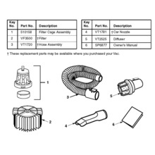 WD40500, WD40502 Vac Assembly