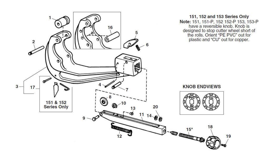 Parts 154 Quick Acting Tubing Cutter Ridgid Store