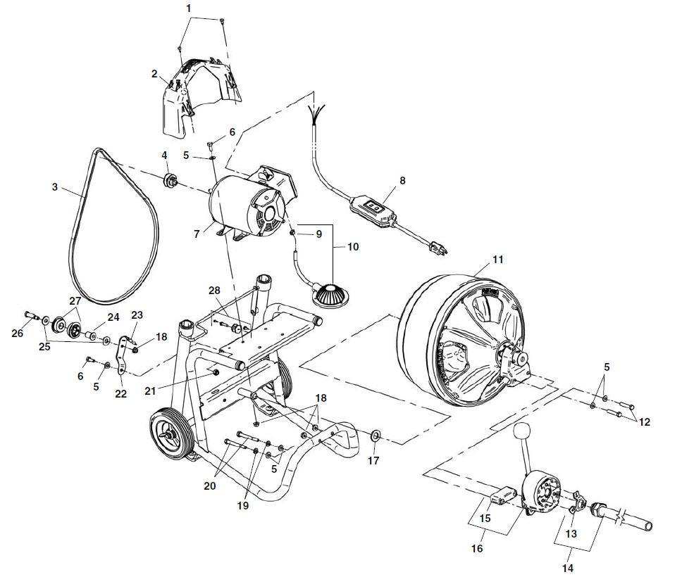 parts k 400 drum machine ridgid store rh store ridgid com