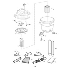 WD12702, WD1273 Vac Assembly
