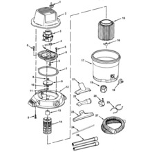 WD1200, WD16250 Vac Assembly