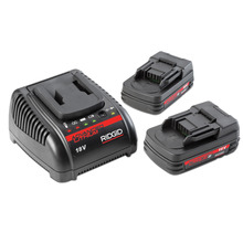 Set of (2) 2.0Ah Batteries & (1) 120V Charger