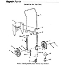 WD17351Vac Cart Assembly