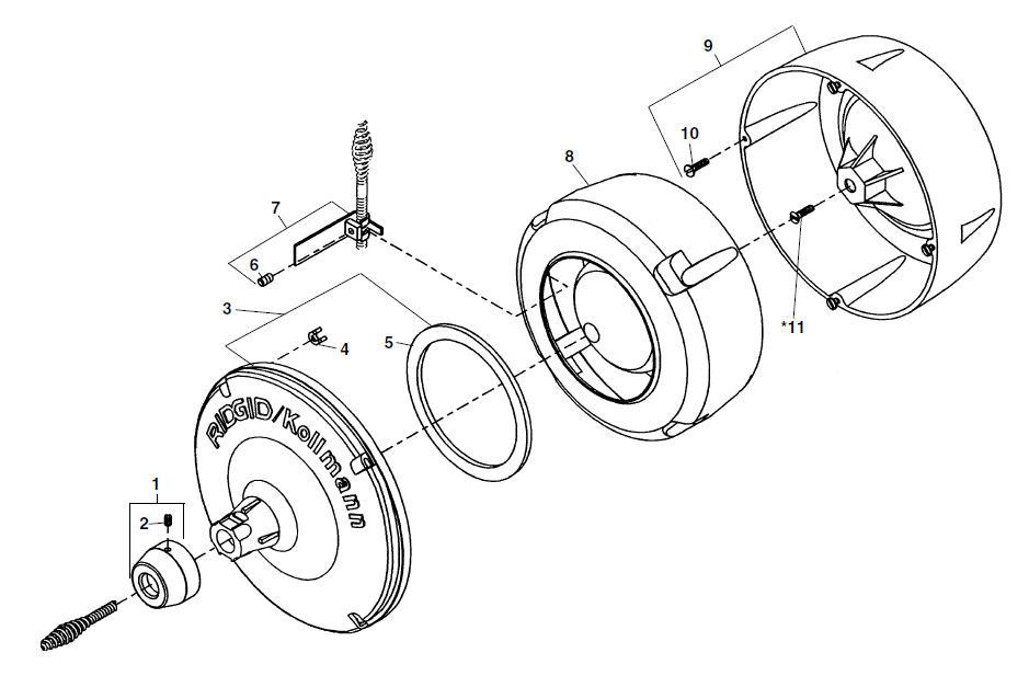 parts k 40 sink machine ridgid storezoom_in drum assembly