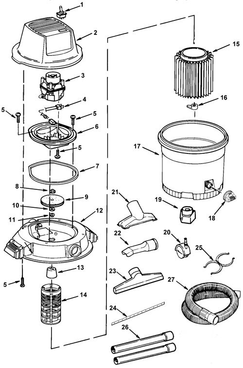 Ridgid Shop Vac Casters >> Parts 12 Gallon Wet Dry Vac Ridgid Store
