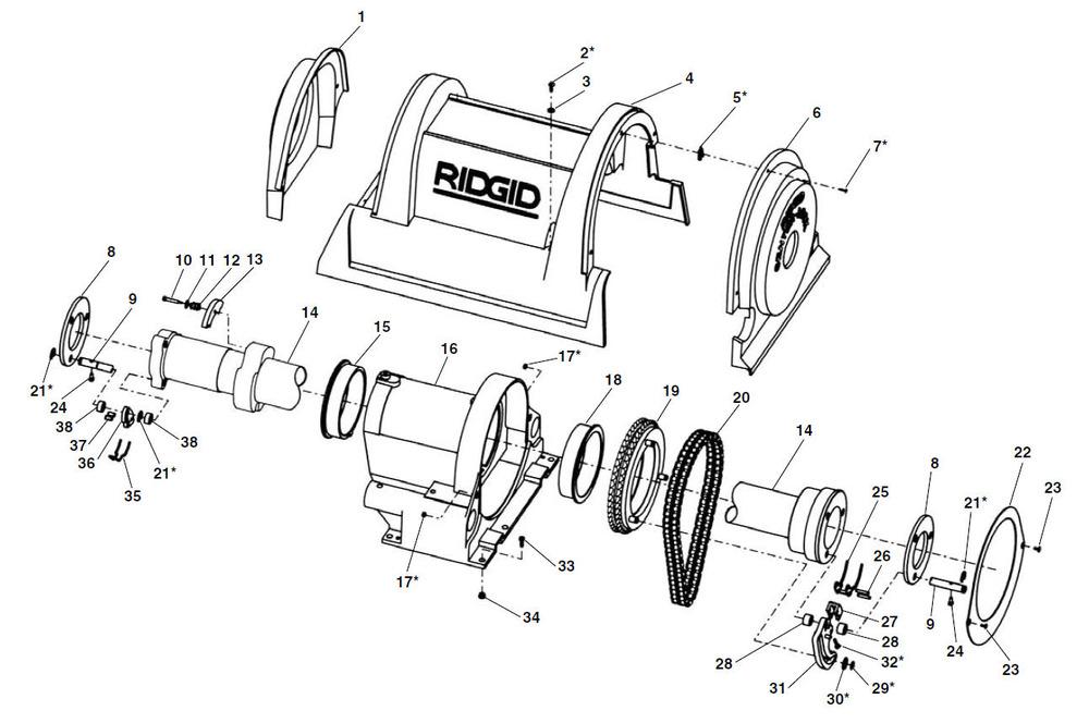 wiring diagram for ridgid threader parts model 1822 i threading machine ridgid store  parts model 1822 i threading machine