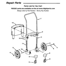 WD17300 Vac Cart Assembly