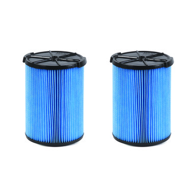 VF5000MP 3-Layer Fine Dust Pleated Paper Filter for 5.0+ gal. RIDGID Wet Dry Vacs (2-Pack)