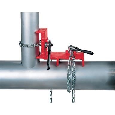 Étau pour soudage de tuyaux déviés