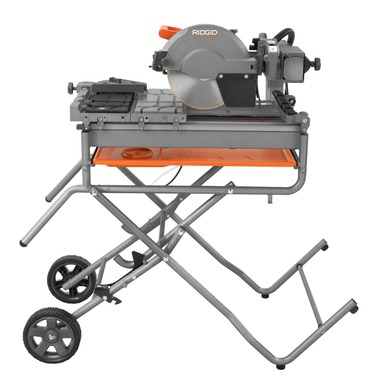 10-in. Wet Tile Saw with Stand