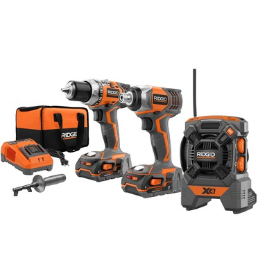 The 18v compact drill and impact driver combo