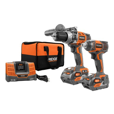 18V Hammer Drill/Driver and Impact Driver Combo