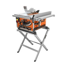 10 in. Compact Table Saw with Folding X-stand