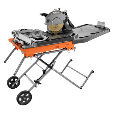 10 In Wet Tile Saw With Stand Power Tools Ridgid Tools