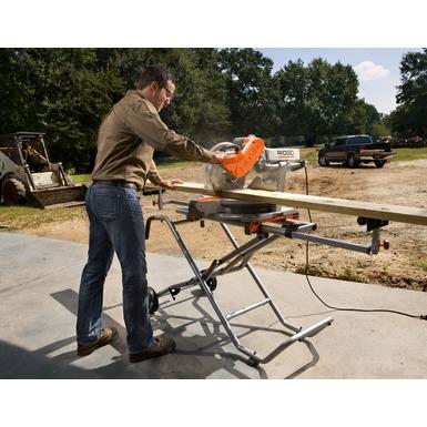 "12"" Sliding Compound Miter Saw with Adjustable Laser"