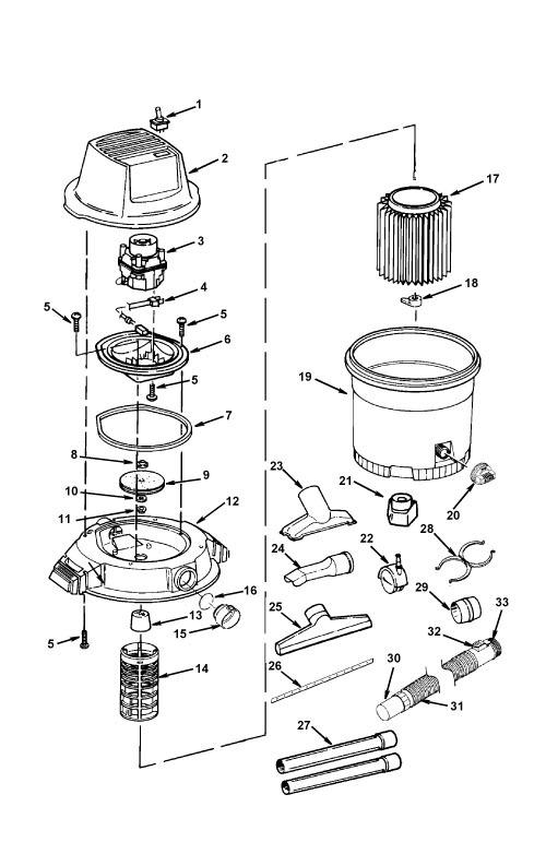 Ridgid Shop Vac Casters >> Parts 16 Gallon Wet Dry Vac With Detachable Blower