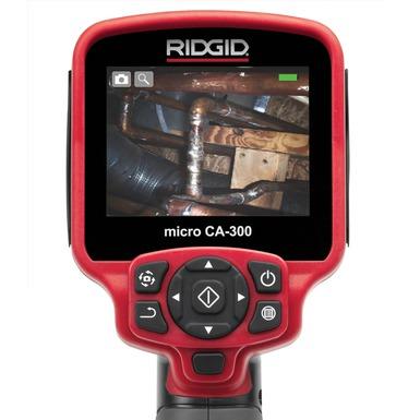 Pantalla de la cámara de inspección micro CA-300