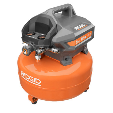 6 gal portable electric pancake compressor ridgid for Electric motor rebuild shop near me