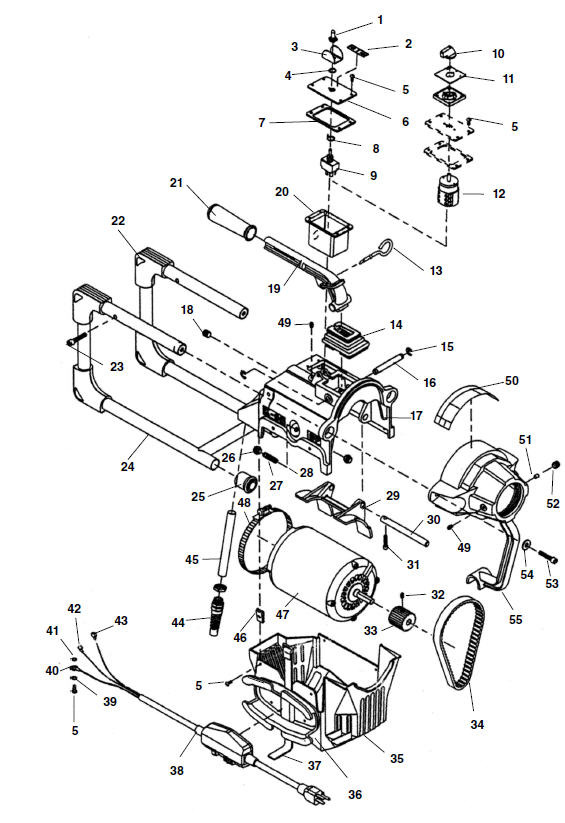 Parts k 60sp sectional machine ridgid store zoomin k 60sp main components greentooth Image collections