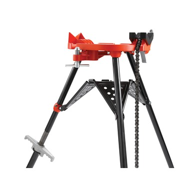 Adjustable Rear Leg on a 460 Portable TRISTAND Chain Vise