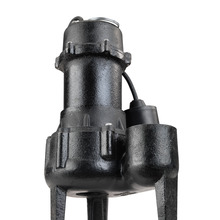 1/2 HP Cast Iron Submersible Sewage Pump with Tether Float Switch