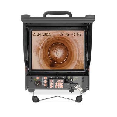 Pantalla de monitor de grabación digital CS10 en funcionamiento