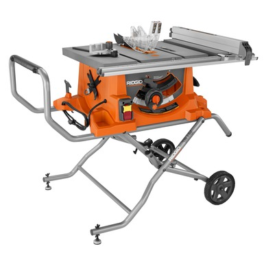 Heavy Duty 10 In Portable Table Saw With Stand