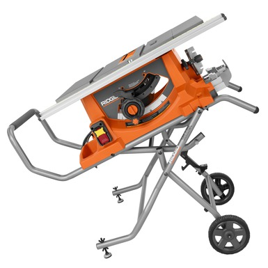 """Ridgid Table Saw : ... Stationary Table Saws Heavy Duty 10"""" Portable Table Saw With Stand"""
