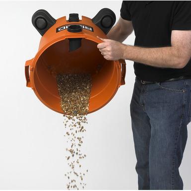 Aspiradora de sólidos y líquidos de gran rendimiento, de 12 galones