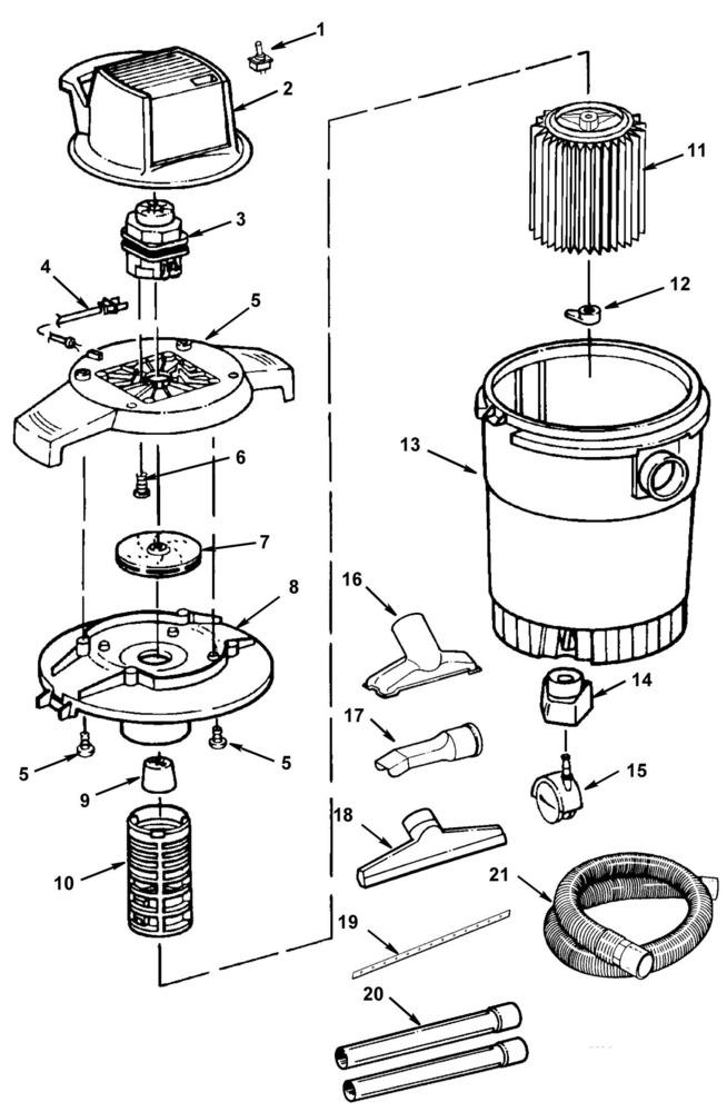 Ridgid Shop Vac Casters >> Parts 8 Gallon Wet Dry Vac Ridgid Store