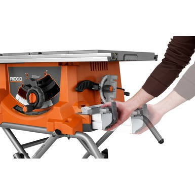 Heavy duty 10 portable table saw with stand ridgid for 10 13 amp industrial bench table saw